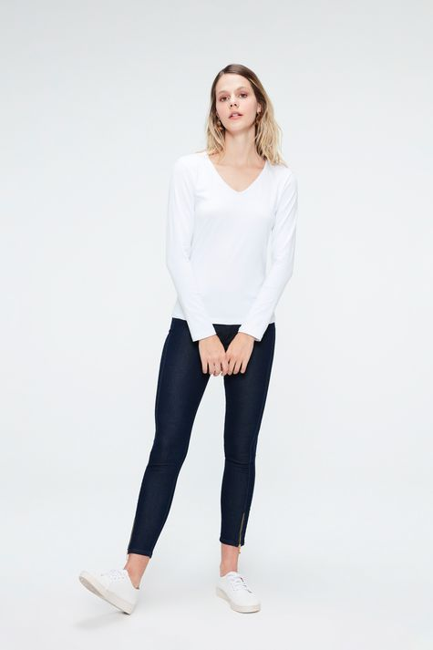Camiseta-Manga-Longa-Decote-V-Feminina-Detalhe-1--
