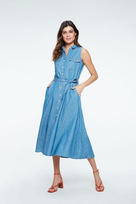 Vestido-Chemise-Jeans-Midi-com-Amarracao-Frente--