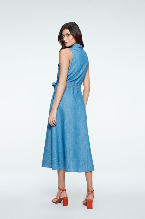 Vestido-Chemise-Jeans-Midi-com-Amarracao-Costas--