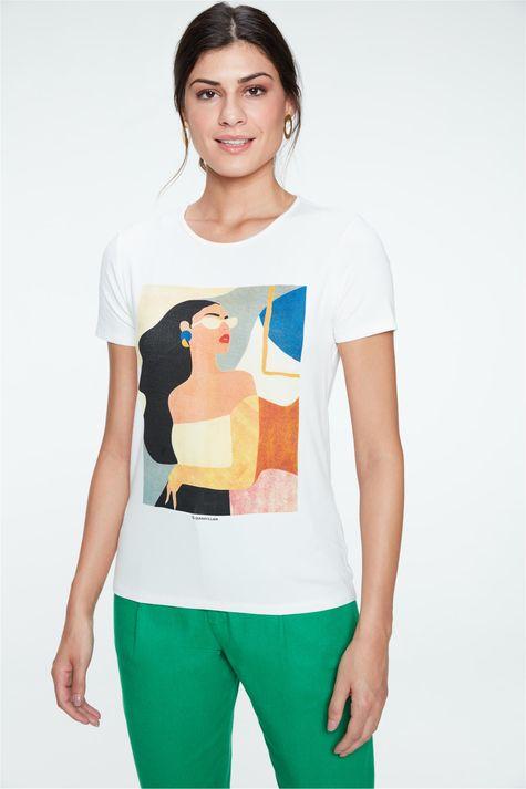 Camiseta-com-Estampa-Geometrica-Feminina-Detalhe--