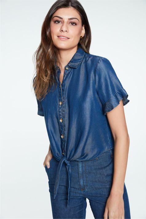 Camisa-Jeans-Manga-Curta-Feminina-Frente--