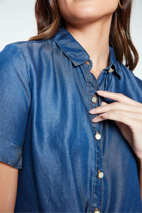 Camisa-Jeans-Manga-Curta-Feminina-Detalhe--
