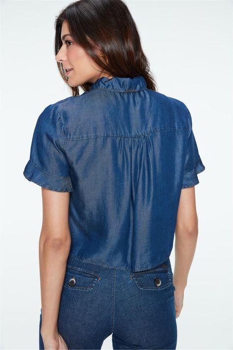 Camisa-Jeans-Manga-Curta-Feminina-Costas--