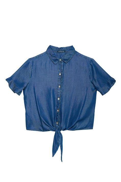 Camisa-Jeans-Manga-Curta-Feminina-Detalhe-Still--