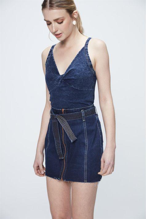 Saia-Jeans-Azul-Escuro-com-Ziper-Frontal-Frente--