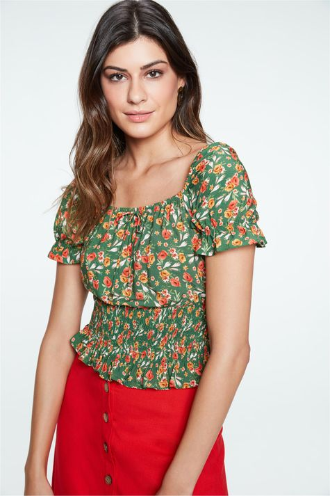 Blusa-Ciganinha-Cropped-Floral-Frente--