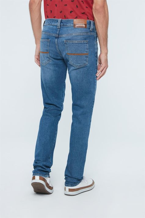 Calca-Jeans-Azul-Medio-Skinny-Masculina-Costas--
