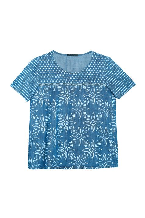 Blusa-Jeans-com-Estampa-Floral-Feminina-Detalhe-Still--