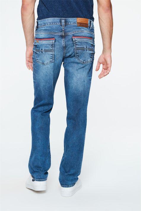 Calca-Jeans-Azul-Escuro-Slim-Masculina-Costas--
