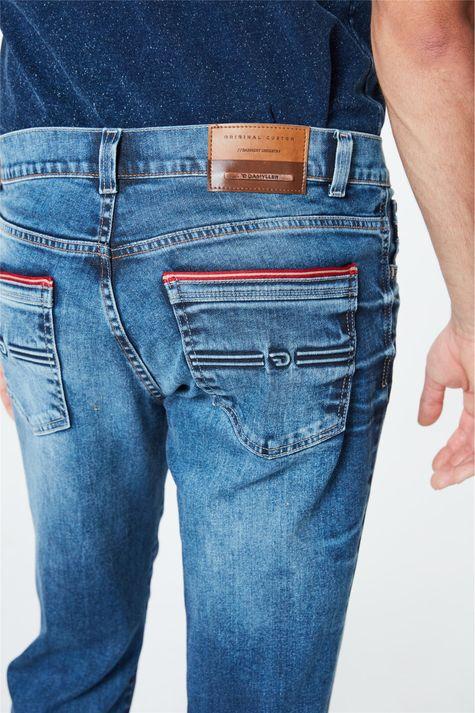 Calca-Jeans-Azul-Escuro-Slim-Masculina-Detalhe--