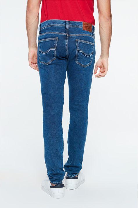 Calca-Jeans-Azul-Escuro-Skinny-Masculina-Costas--