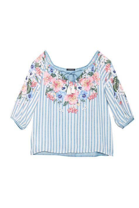 Bata-Jeans-com-Estampa-Floral-Manga-3-4-Detalhe-Still--