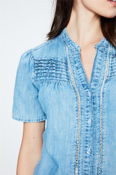 Camisa-Jeans-com-Babado-e-Franzidos-Detalhe--