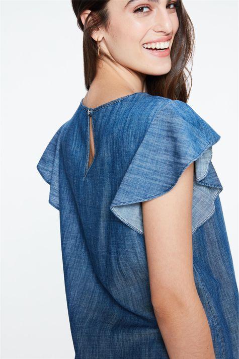 Blusa-Jeans-com-Mangas-de-Babados-Detalhe-1--