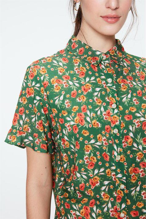 Camisa-Estampada-Floral-Feminina-Detalhe--