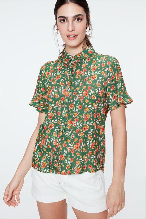Camisa-Estampada-Floral-Feminina-Frente--