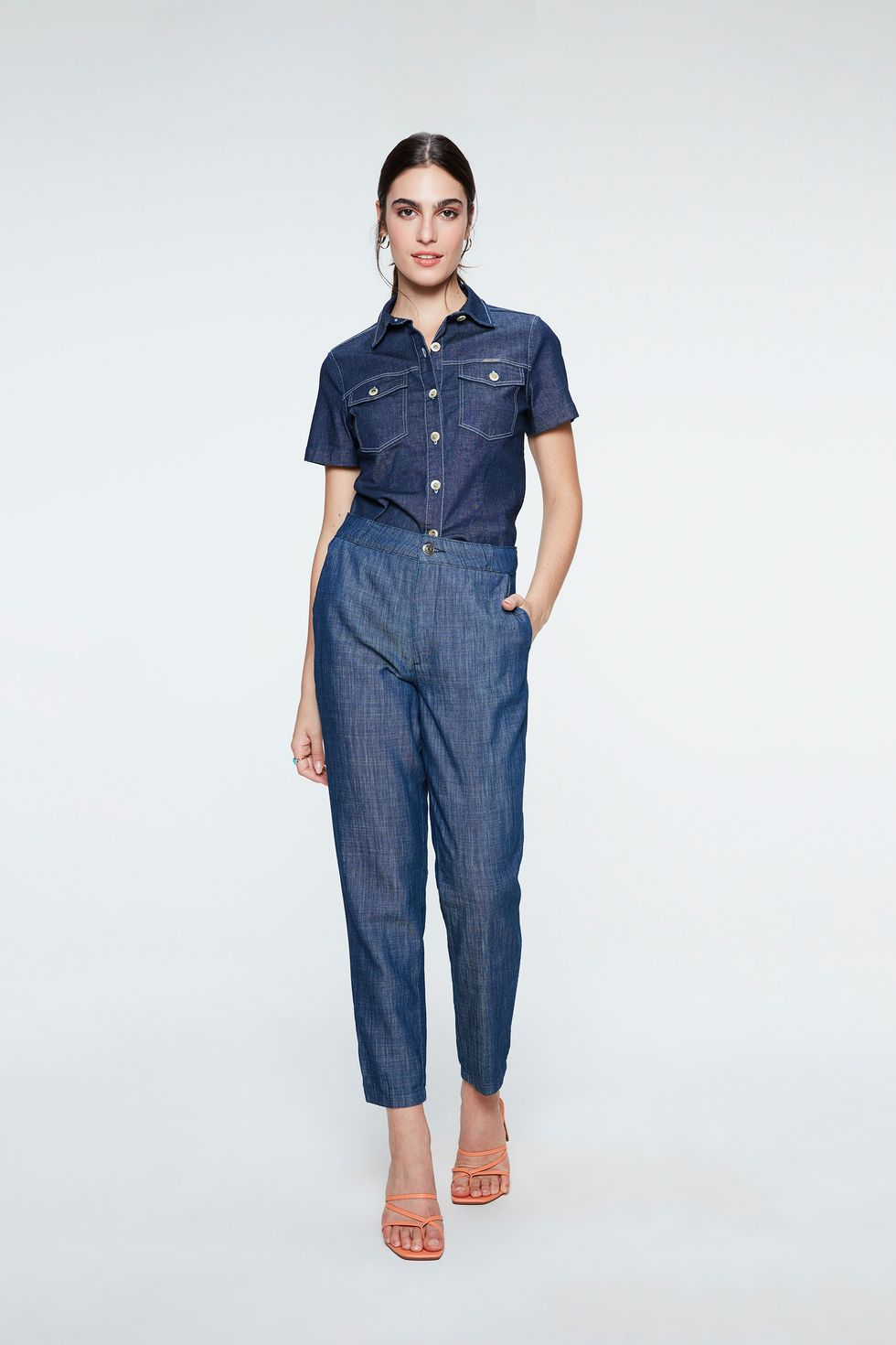 Calca-Jeans-Chino-Cropped-Feminina-Frente--