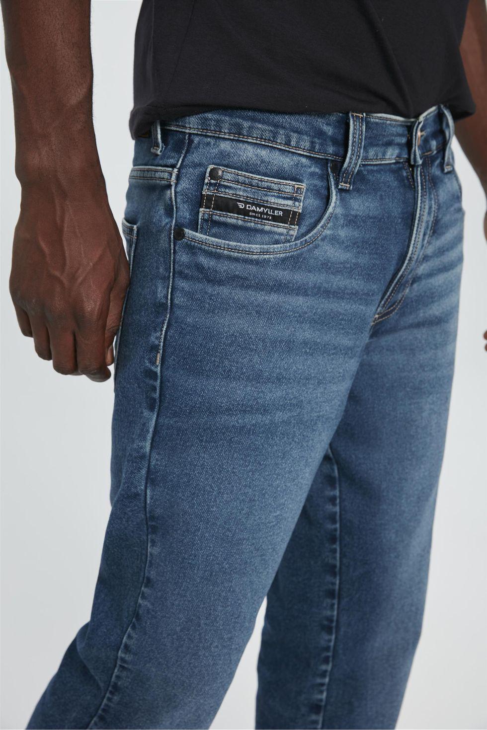 Calca-Jeans-Azul-Escuro-Slim-Masculina-Frente--