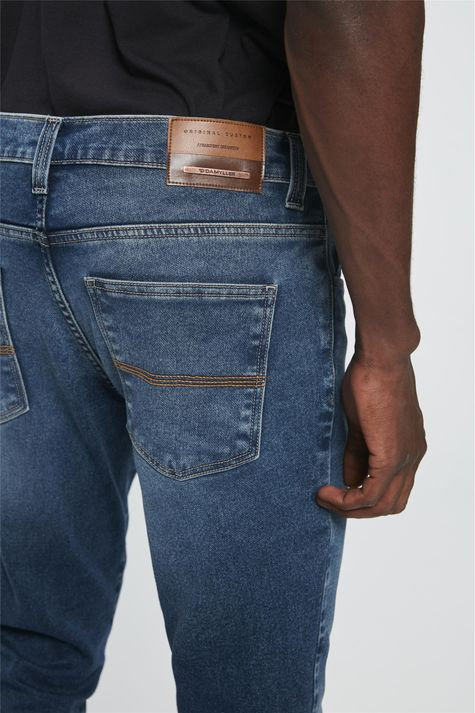 Calca-Jeans-Azul-Escuro-Slim-Masculina-Detalhe-1--