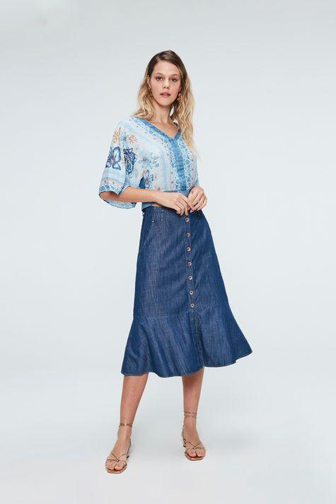Saia-Jeans-Midi-Com-Abotoamento-Frontal-Frente--