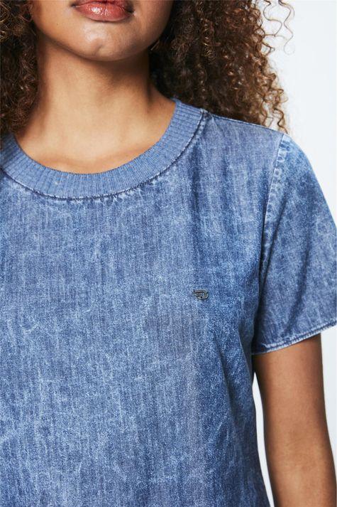 Camiseta-Jeans-Marmorizada-Feminina-Frente--