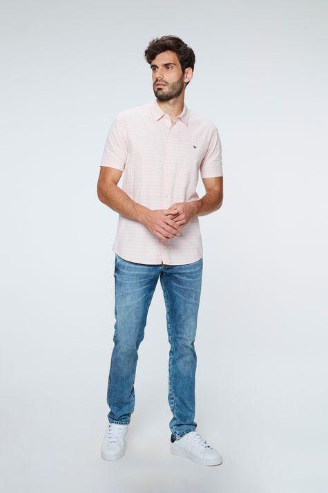 Camisa-de-Manga-Curta-Xadrez-Masculina-Detalhe-1--