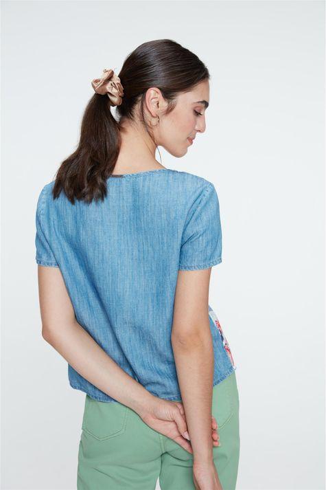 Blusa-Jeans-Manga-Curta-Estampa-Floral-Costas--