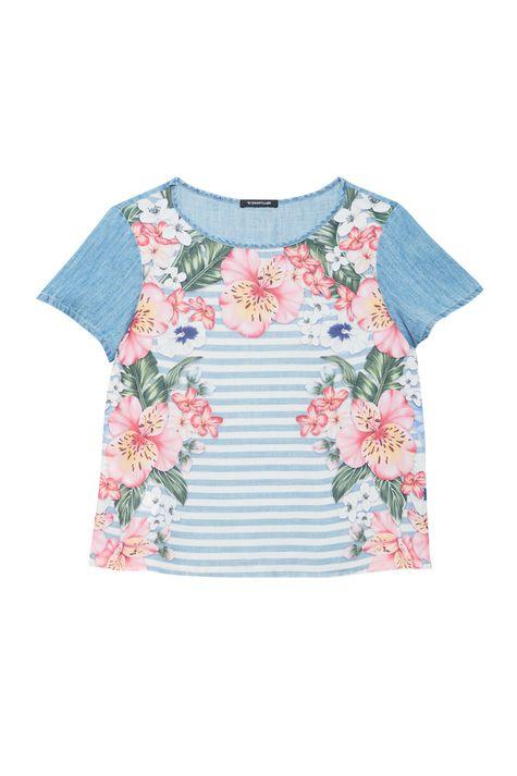 Blusa-Jeans-Manga-Curta-Estampa-Floral-Detalhe-Still--
