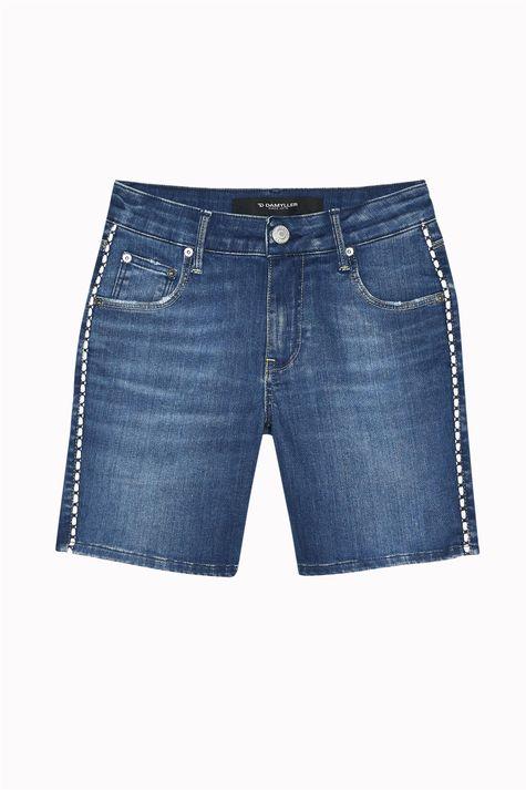 Bermuda-Jeans-Escuro-Justa-Feminina-Detalhe-Still--