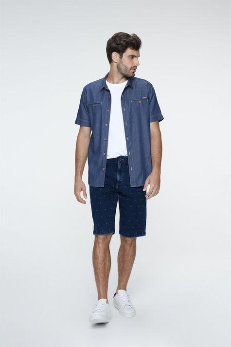 Bermuda-Jeans-Chino-Estampada-Masculina-Frente--