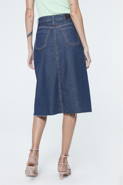 Saia-Jeans-Midi-Evase-com-Abotoamento-Costas--