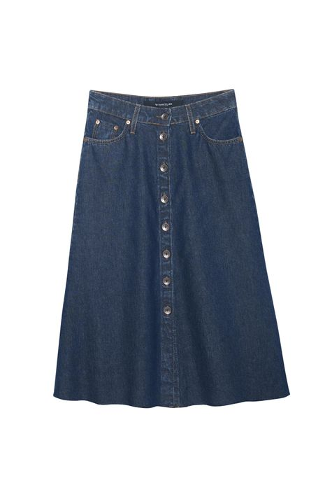 Saia-Jeans-Midi-Evase-com-Abotoamento-Detalhe-Still--