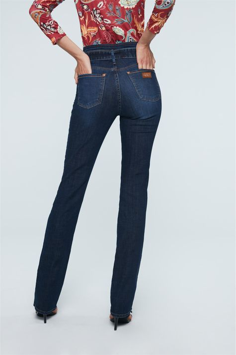 Calca-Jeans-Reta-Cintura-Alta-com-Fivela-Detalhe--
