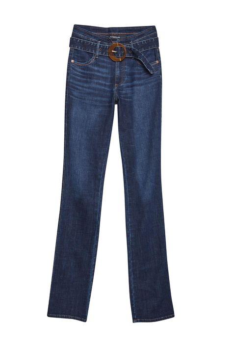 Calca-Jeans-Reta-Cintura-Alta-com-Fivela-Detalhe-Still--