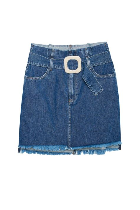 Saia-Jeans-Mini-Clochard-com-Fivela-Detalhe-Still--