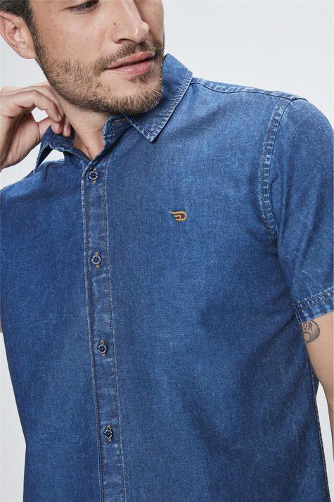 Camisa-Manga-Curta-Jeans-Masculina-Frente--