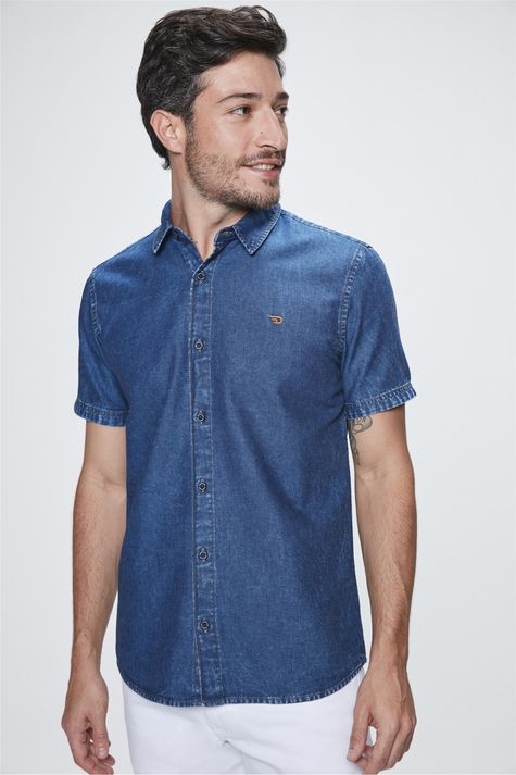 Camisa-Manga-Curta-Jeans-Masculina-Costas--