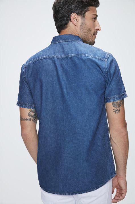 Camisa-Manga-Curta-Jeans-Masculina-Detalhe--