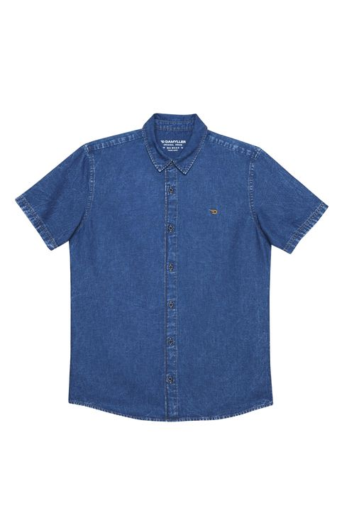 Camisa-Manga-Curta-Jeans-Masculina-Detalhe-Still--