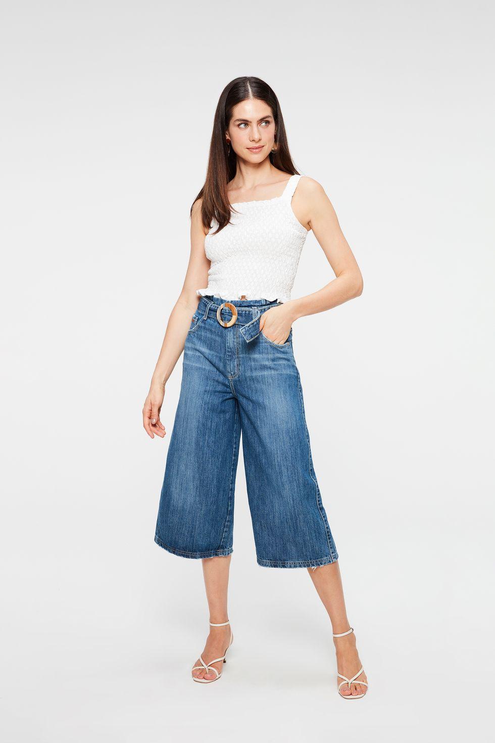 Calca-Jeans-Pantacourt-Cintura-Alta-Frente--