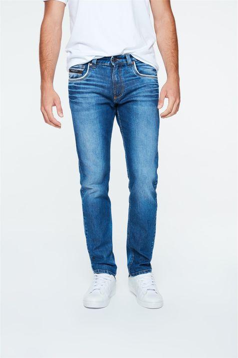 Calca-Jeans-Azul-Escuro-Skinny-Masculina-Detalhe--