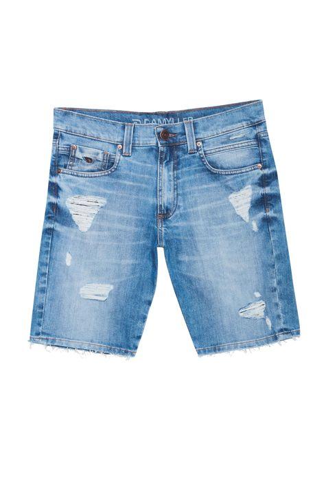 Bermuda-Jeans-Skinny-Rasgada-Masculina-Detalhe-Still--