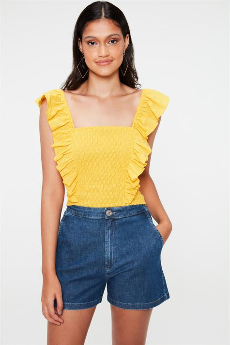 Short-Jeans-de-Alfaiataria-Cintura-Alta-Frente--