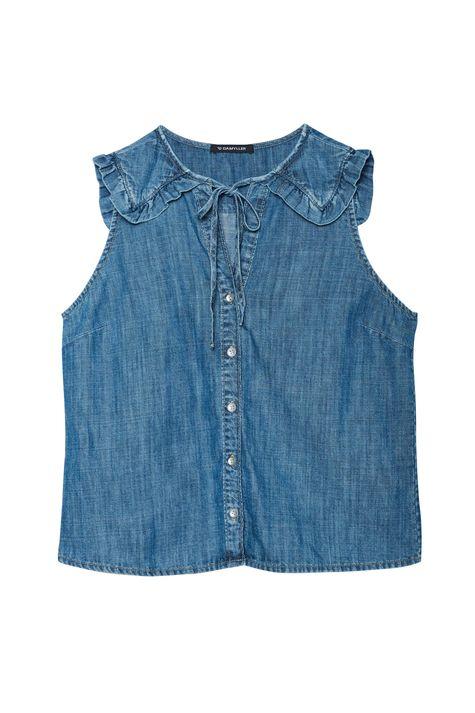 Camisa-Jeans-sem-Mangas-com-Babado-Detalhe-Still--