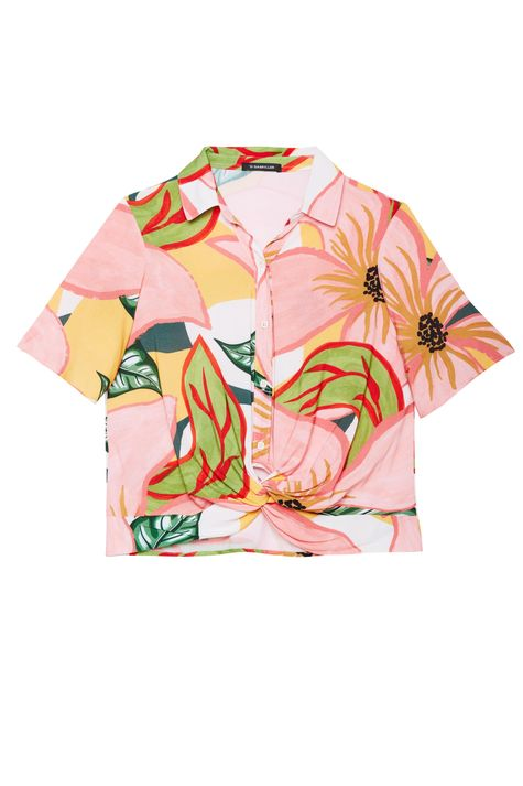 Camisa-de-Manga-Curta-com-Estampa-Floral-Detalhe-Still--