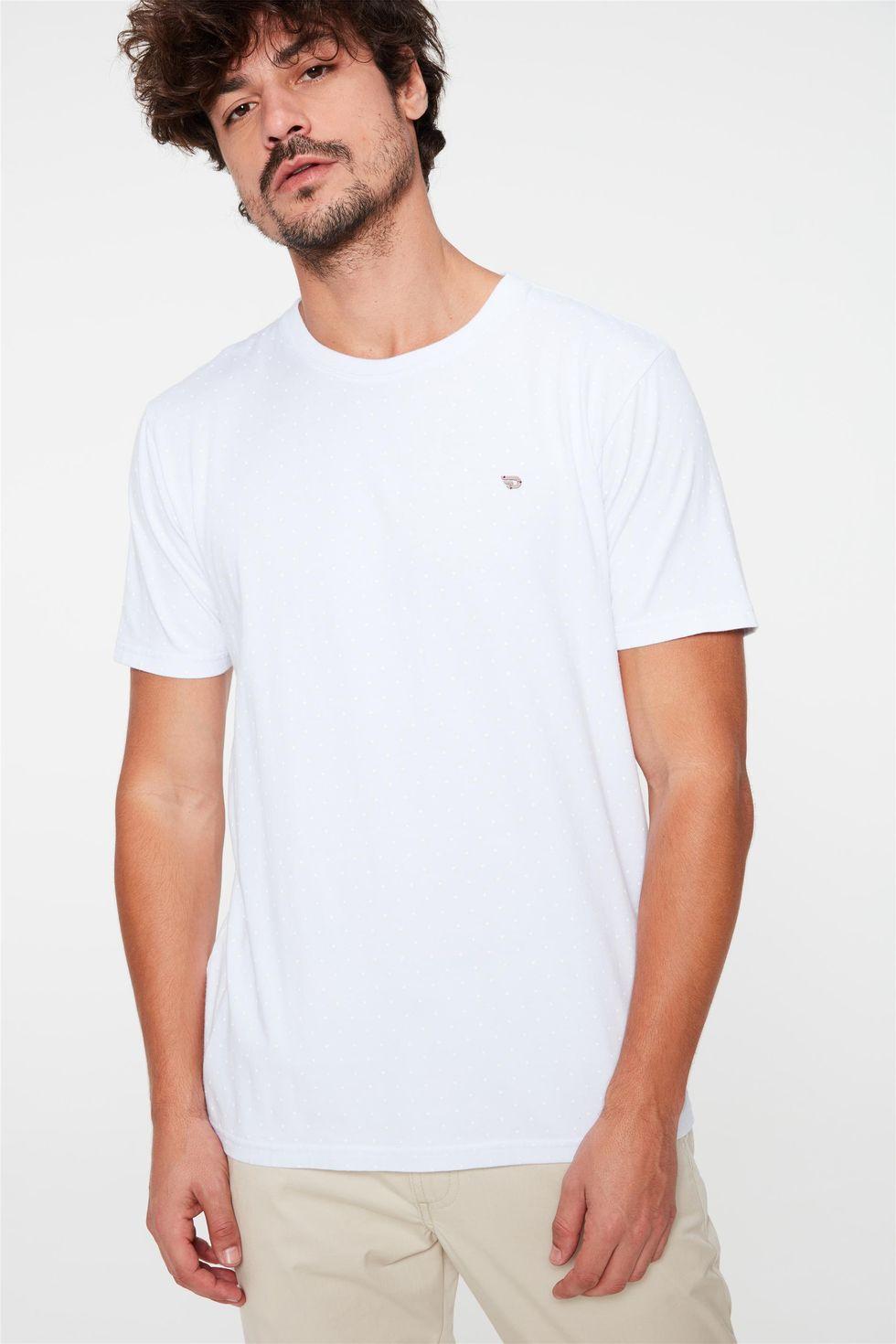 Camiseta-Estampa-de-Bolinhas-Masculina-Frente--