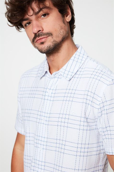 Camisa-de-Manga-Curta-Estampa-Xadrez-Detalhe--