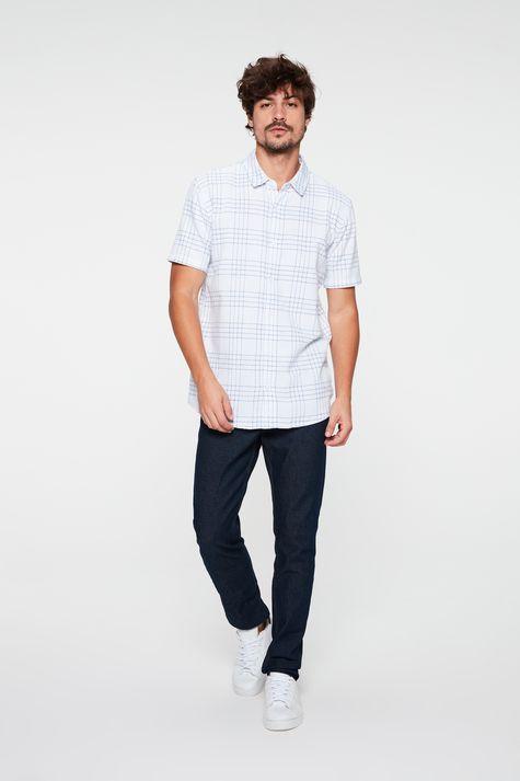 Camisa-de-Manga-Curta-Estampa-Xadrez-Detalhe-1--