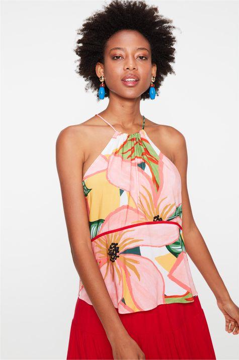 Blusa-de-Alca-Franzida-Estampa-Floral-Frente--
