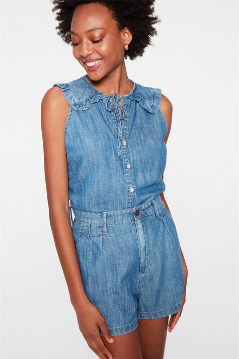 Short-Jeans-Mini-Cintura-Alta-com-Pregas-Frente--